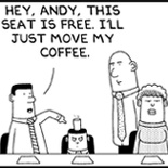 Life as an Intern in dilbert's comic strip