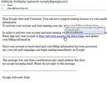 Google adsense/adwords phishing emails