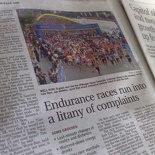 Endurance Races gone bad article on Straits Times 20th June 08