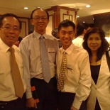 Photo with Tan Hang Cheong SP Principal and Soh Kong Pheng CEO DSTA