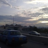 The open lanes of Sheares bridge
