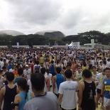 The run finishing crowds
