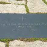 as it appeared prior to the parallel interment of his widow, Jacqueline Kennedy, upon her death.