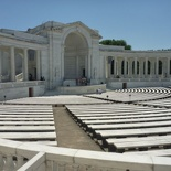 located behind the tomb of the unknown soldier