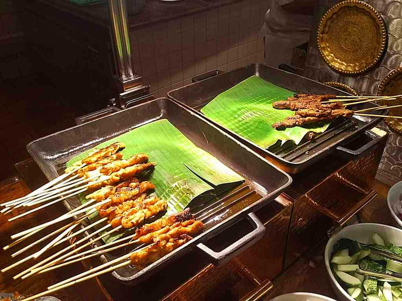 Asian Market Cafe Fairmont Freshly barbecued Satays