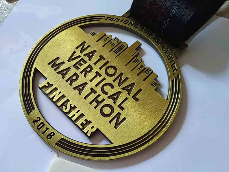 National vertical marathon Singapore Finisher Medal