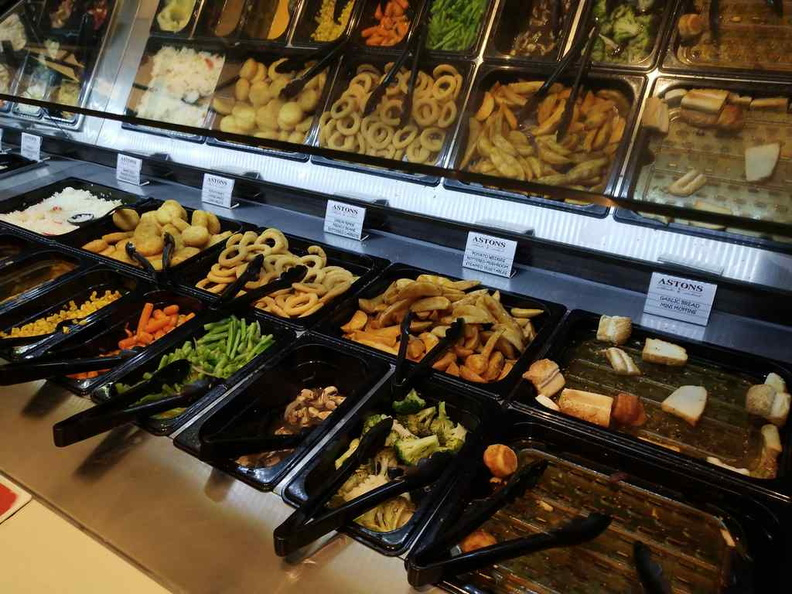 It is more than just a salad bar, plenty of extras such as meats and potato options