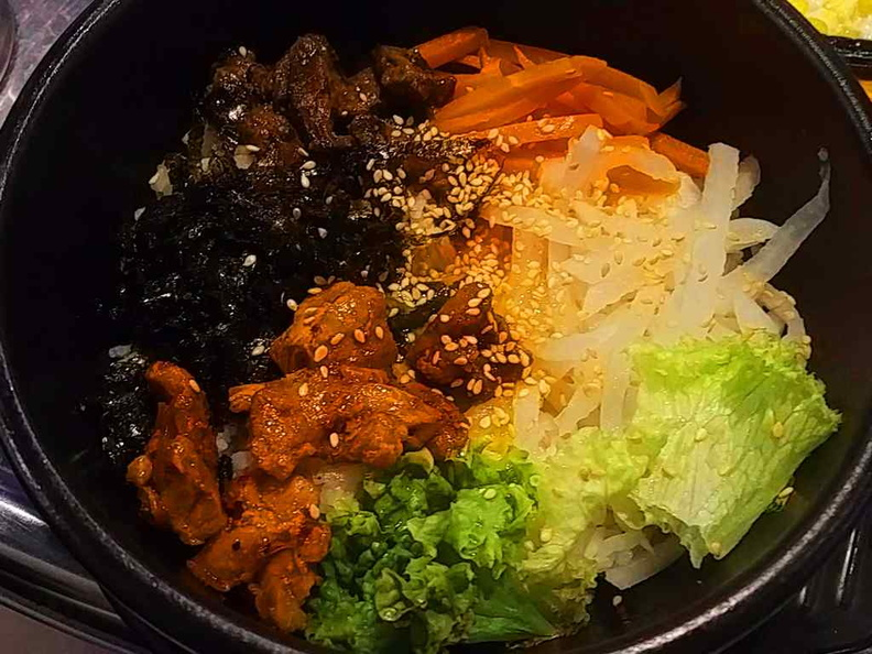 Gogi Bibimbap  offered via their Al-carte menu