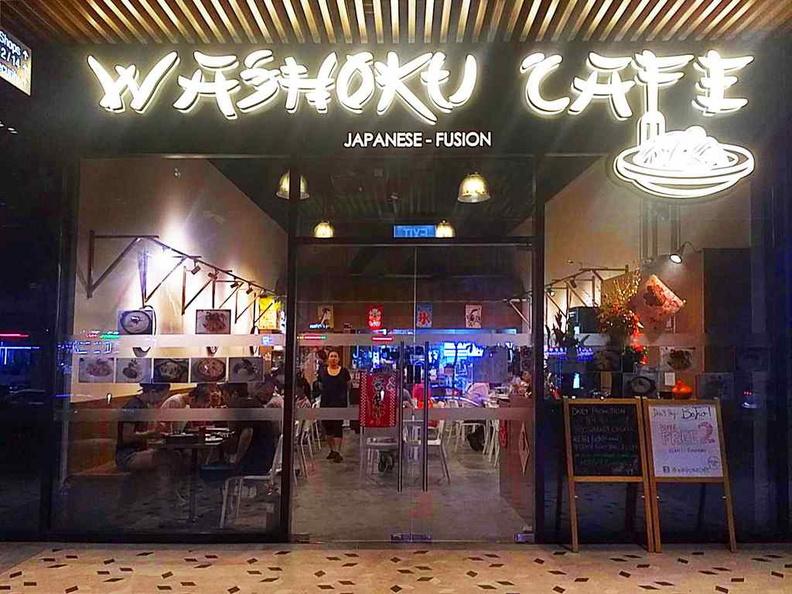 Entrance of Washoku cafe