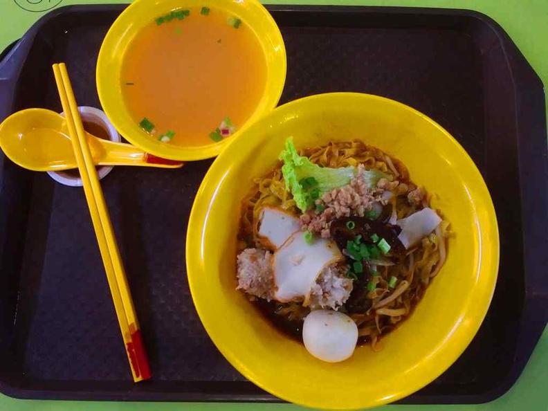Telok Blangah Squid Ball noodle Bak chor mee ($3)