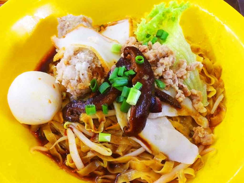 One fishball and two meatballs to go with your meal