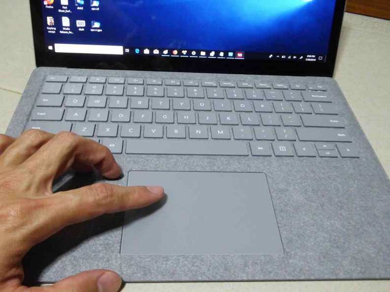 The touchpad is large, but not overly intrusive in proportion to the entire palm rest