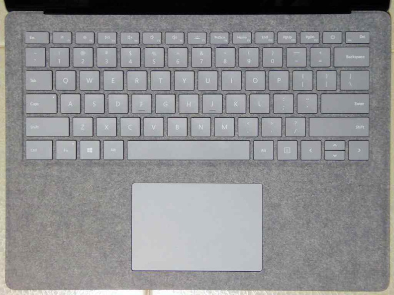Overview of the Surface Laptop keyboard. It is a joy to type on