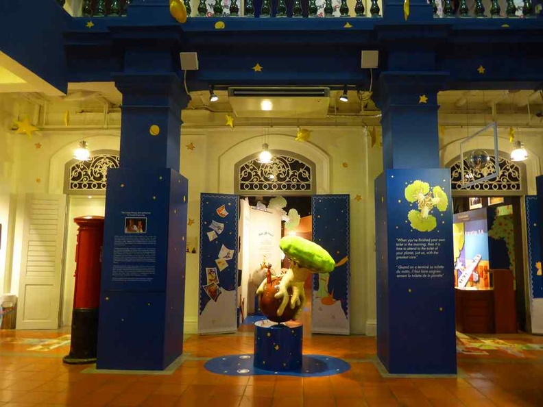 The entrance to the exhibition galleries. Welcome to the Little Prince exhibition at the Singapore Philatelic Museum