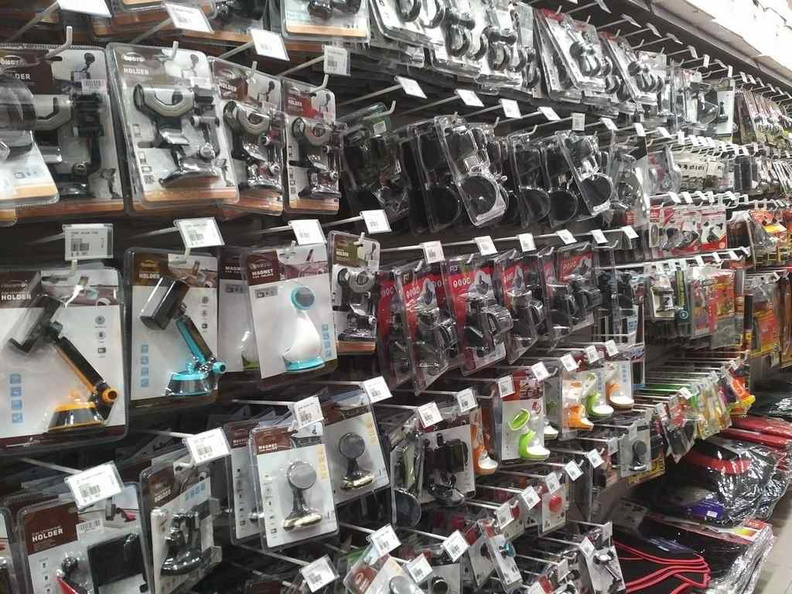 An entire row devoted to car accessories, in car-lite Singapore