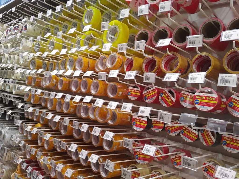 Huge choices of tape for any desired sticky situation