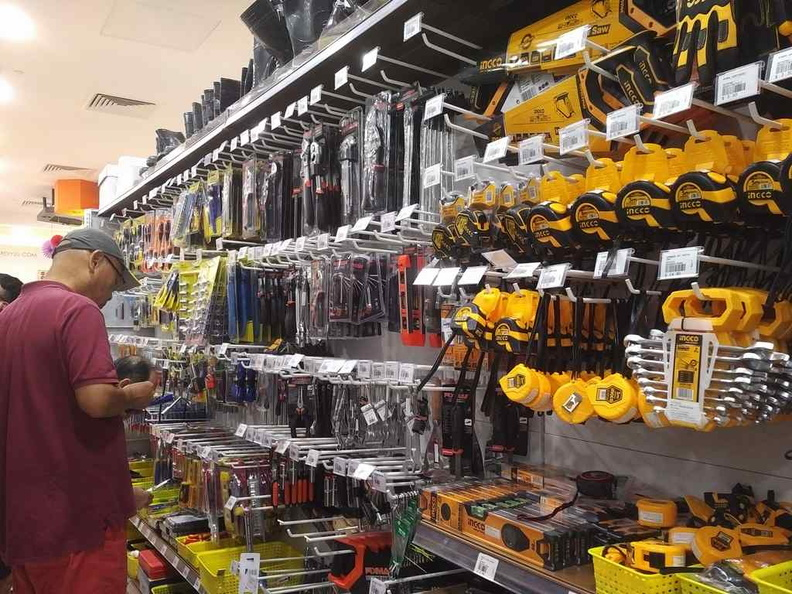 A part of the hardware section, comprising of measuring and assorted adjustment tool sorted by brand offerings