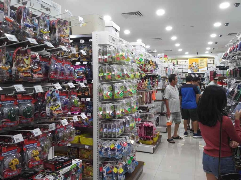 One of the central aisles in the store