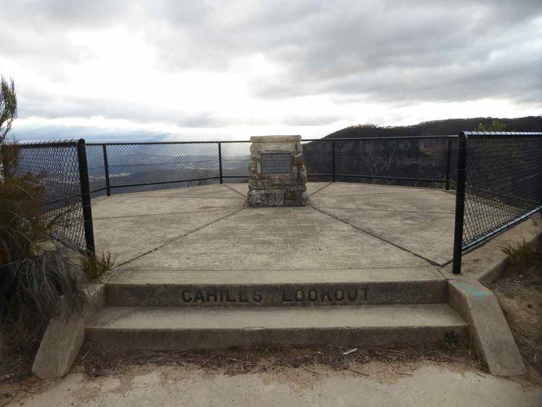 Welcome to Cahills lookout by the blue mountain