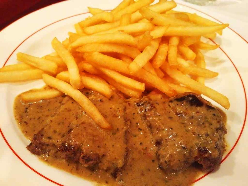The steak and fries set in all its glory. It is the restaurant primary main course which patrons go for