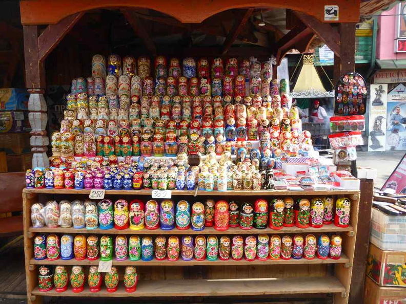There are plenty of Russian dolls, you can get a very good bargain haggling prices down here. You can even bargain their offer price down further
