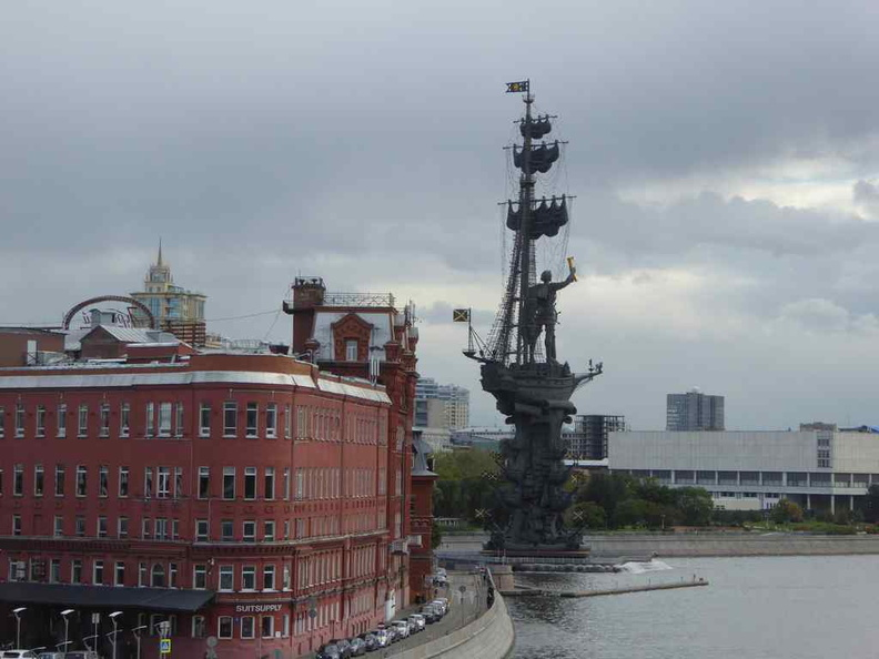 Commemorative statue honoring Tsar Peter the Great and the 300th anniversary of the Russian Navy
