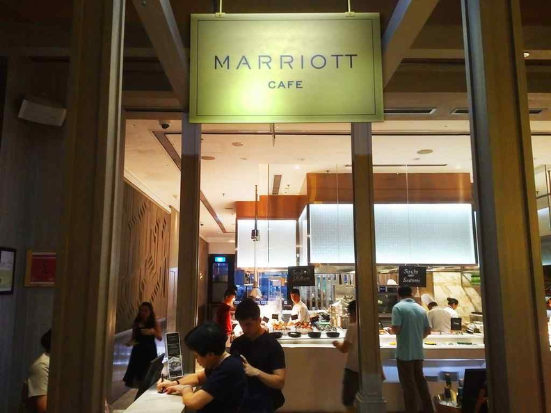 Entrance to the Marriott cafe from the hotel lobby