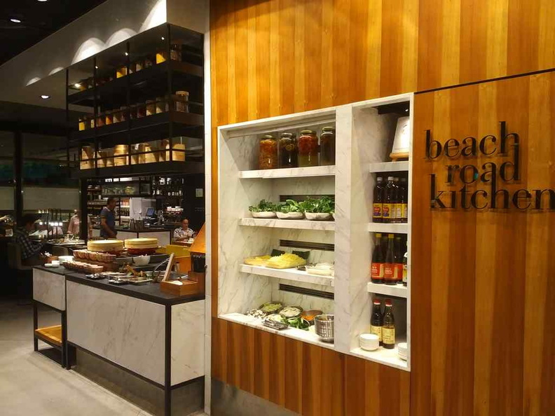 The salad bar area by the main entrance