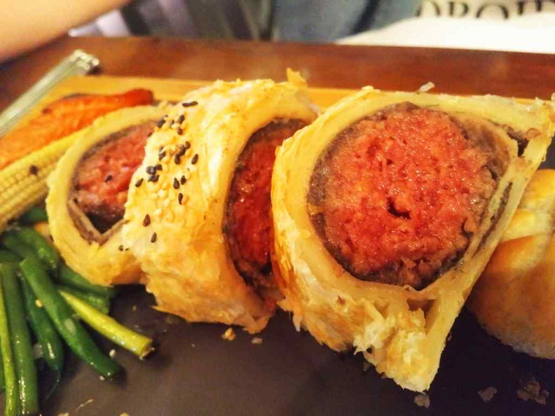 Impossible Beef Wellington. It is tad pricey at $39 for the offerings. I would recommend their regular beef instead