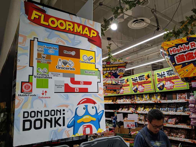 The Floor plan of the supermarket. Do note the absence of anything else not food