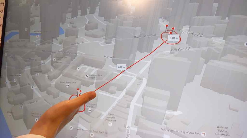 A demo of integration with other Microsoft apps, like determining and distances right from Microsoft Bing maps