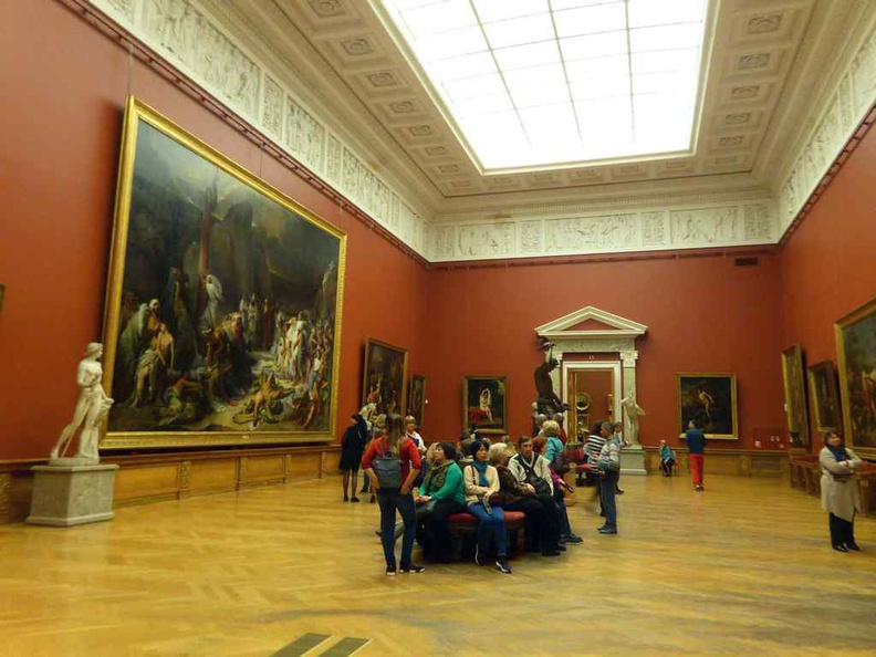 Some of the vast open galleries, with some housing vast paintings spanning almost two floors in height