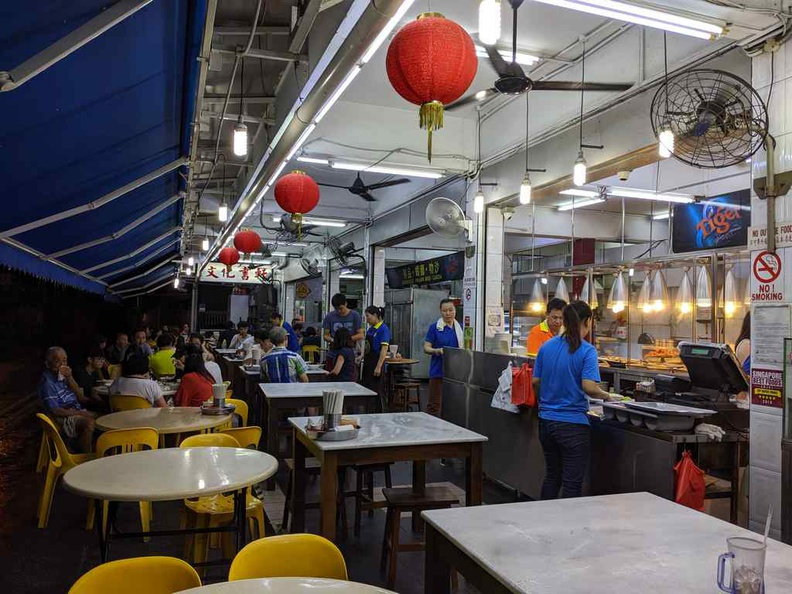 Heng Long Teochew Rice Outdoor seating is both rustic and open by the roadside