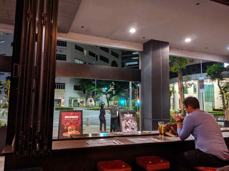 25 degrees burger bar offers a mix of indoor and outdoor facing seating and opens till late
