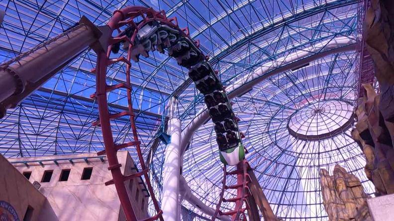 Circus Circus canyon blaster indoor roller coaster