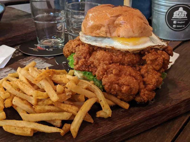 Beast Southern kitchen southern style fried chicken Nashville burger