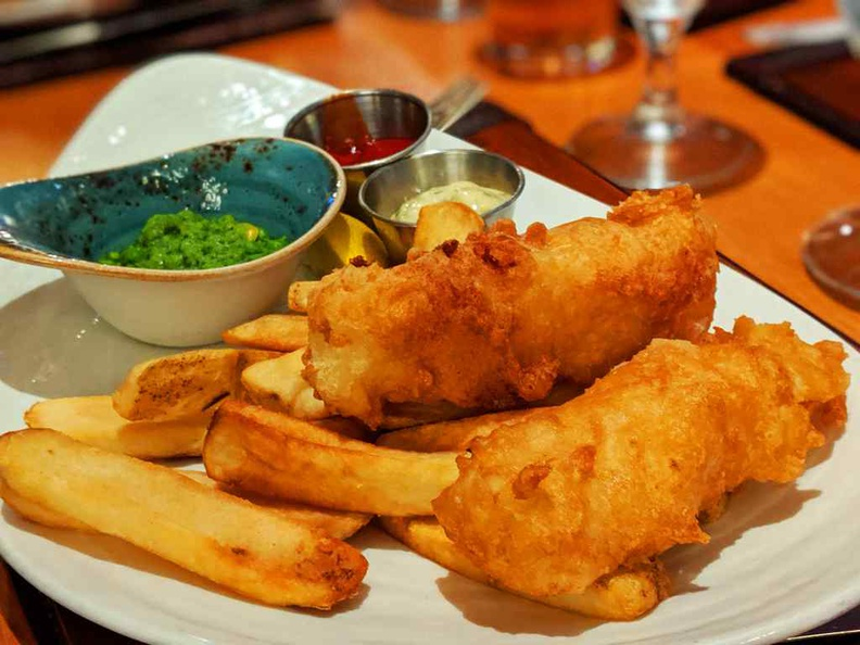Gordon Ramsay Pub Grill Yorkshire ale batter Fish and chips ($30)