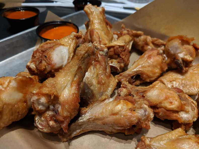 Traditional Buffalo wild wings in the traditional bone-in variants. They well fried and juicy on the inside.