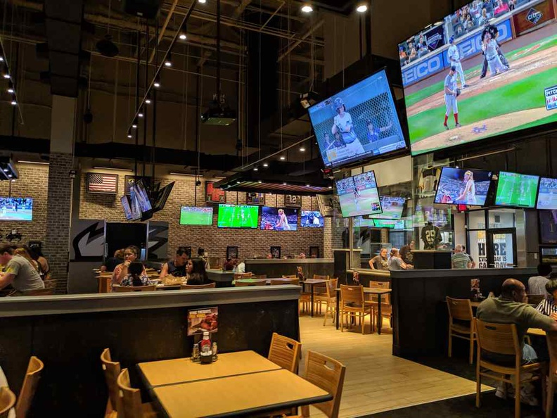 General ambience of the Buffalo wings sports bar