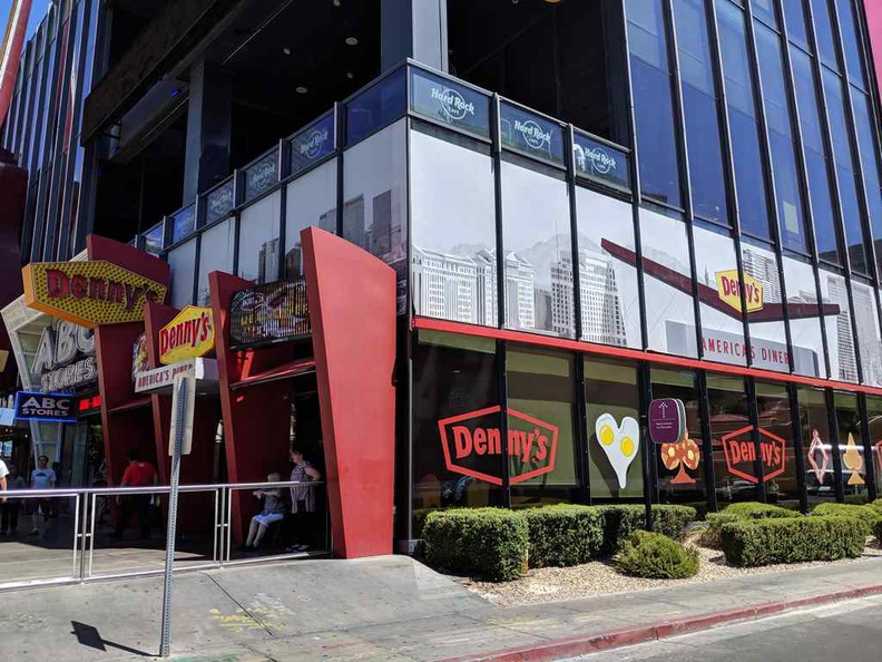 Dennys American Diner in downtown Vegas strip