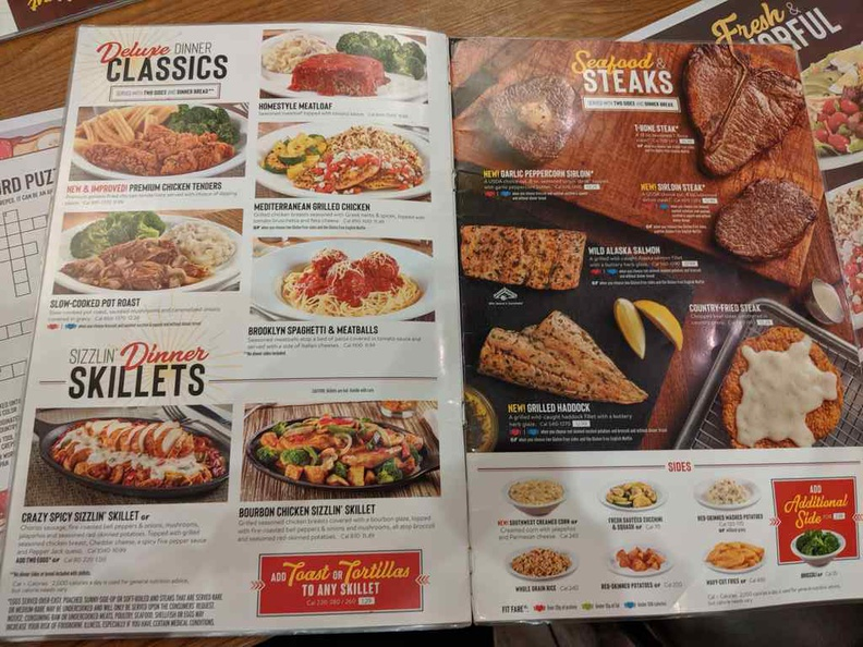 Dennys American diner menu offers an entire selection all day long 24 hours a day.