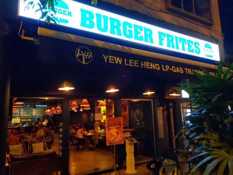 Burger Frites restaurant burger joint along Joo Chiat Road