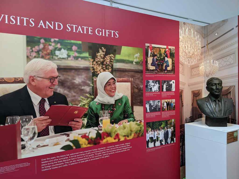 The Istana hosts a variety of guests and stores the various state gifts from these visits on-site too