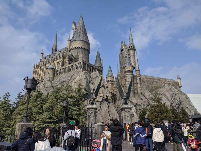 Universal osaka Harry Potter and the Forbidden Journey ride entrance.