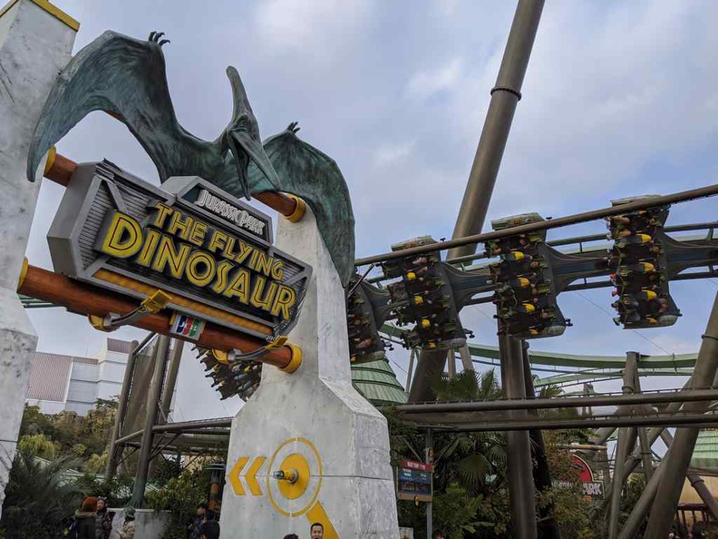The Flying dinosaur roller coaster is possibly one of the best rides in the park