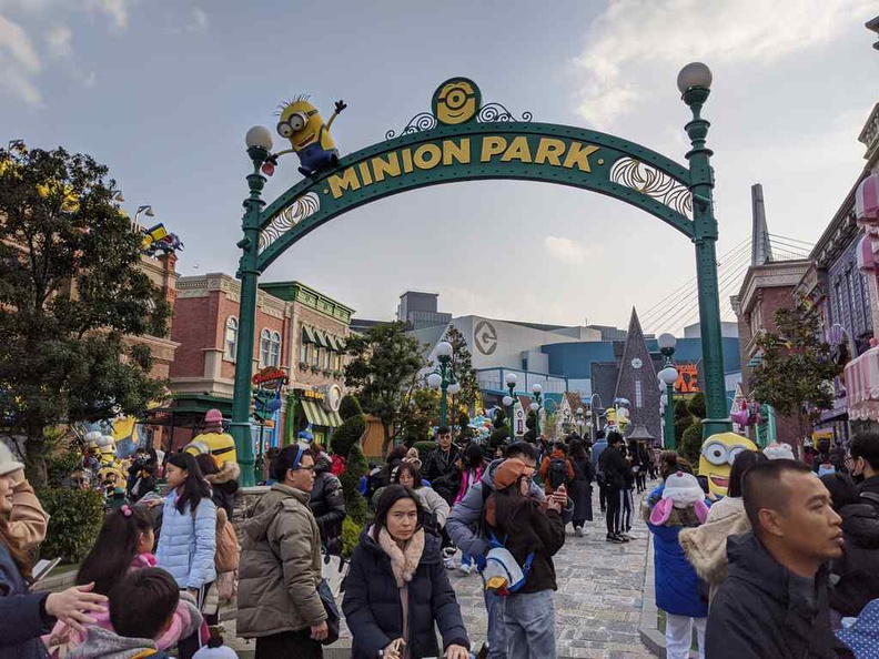 Welcome to the quirk world of Minion Park. This sector is a nicely themed but otherwise underwhelming sector with a VR simulator ride as its main attraction