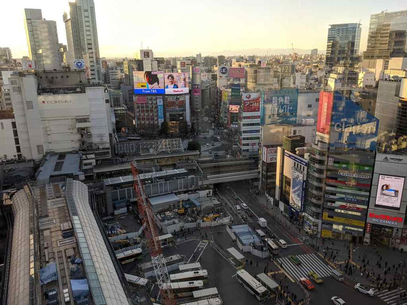 Sunset views from Shibuya Tokyo hikarie mall viewing deck