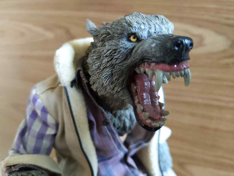 The figure in werewolf form