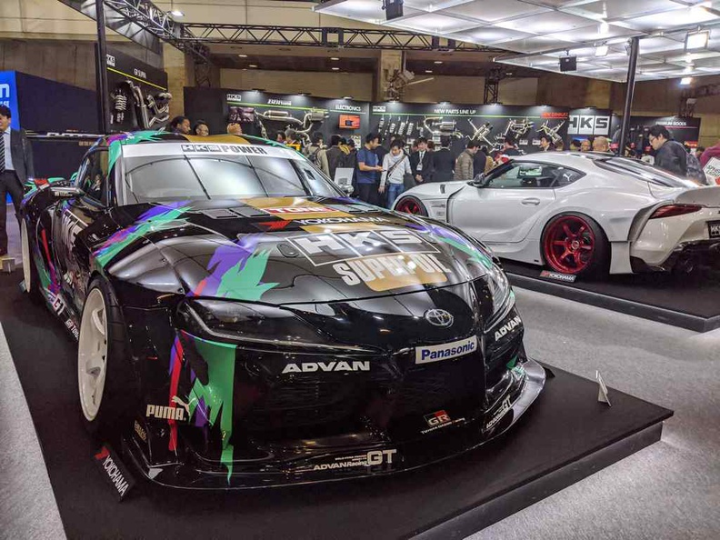 This year's Auto salon has a strong emphasis on the newly released showboy, the BM- Umm Toyota Supra