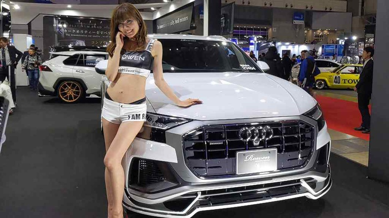 Tokyo Auto Salon 2020 Booth babes are also a highlight of the show
